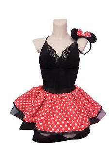 Mini Mouse Tutu Skirt Red White Polka Dots 80s Fancy Dress Hen Party Book Week