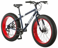 Mens Bike Mongoose Dolomite 26 Inch Fat Tire 7-speed All Terrain Navy Blue