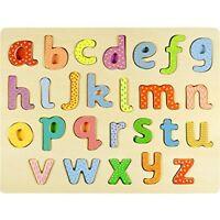 Professor Poplar's Lower-case Alphabet ABCs Wood Jigsaw Puzzle Board