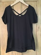 Cute Heart & Soul Black Ladies Top/Size Small/New & Tags/Cross Over Back/Dressy
