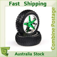 06010 Green Chrome Front Wheel Complete HSP RC Buggy 1/10