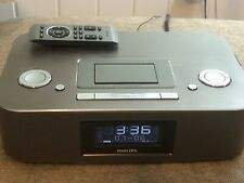 Philips DC290 Radio iPod/iPhone Alarm Clock Speaker Dock 30 Pin Aluminum