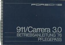 PORSCHE 911 Carrera 3.0 1976 manuale di istruzioni manuale d'uso manuale BA