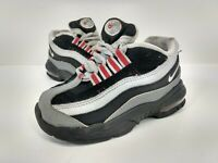 Toddler Nike Little Air Max 95 Athletic Shoes Black Gray Red Sz 7c 905462-036