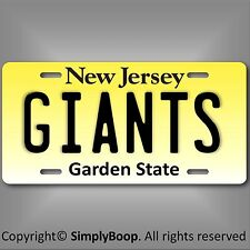 New Jersey New York Giants NFL NFC East Team Aluminum License Plate Tag New