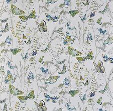 Prestigious Admiral Waterfall Blue Butterflies Floral Fabric Craft Material