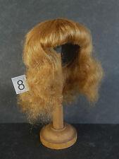 PERRUQUE de POUPEE 100% cheveux T8(31.5cm) Mi Longue blond-roux-50% SUPER PROMO