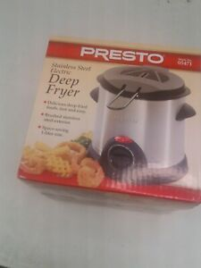 Presto stainless steel Electric Deep Fryer brand new model 05471--Factory Sealed