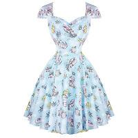 Hell Bunny Coralia Light Blue Mermaid Pinup 1950s Retro Rockabilly Vintage Dress
