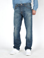 Nudie Herren Regular Straight Fit Bio Jeans Hose - Easy Emil Light Rich Blue
