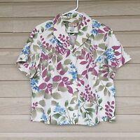 Jamaica Bay Linen 100% Size XL Tropical Hawaiian Floral Print Shirt SS