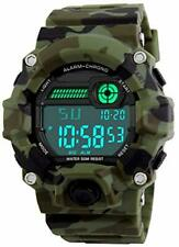 Kids Digital Wrist Watch LED Sport Waterproof Shock Resistant Camo Military Boy