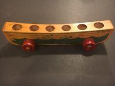 Vintage Holgate Rolling Life Boat Wooden Toy Ship