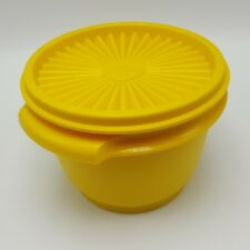 Vintage Tupperware Servalier Bowl 886 lid Yellow Gold 2.5 cup USA