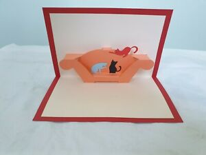 3d Popup Cat On The Sofa Card