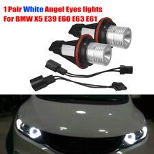 White Angel Eyes light 10W CREE LED Ring Marker Bulbs For BMW X5 E39 E60 E63 E61