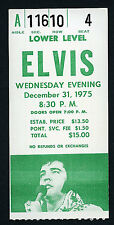 Elvis Presley Vintage Concert Ticket Stub Pontiac MI DEC 31 st 1975 New Year Eve
