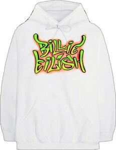 Billie Eilish Graffiti Art Logo Rock EDM Pop Trap Music Singer Hoodie 38301015