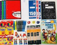 Back to School Supplies Lot Teacher Kit College Office Bundle Pens Glue Notebook