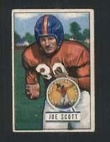 1951 Bowman #128 Joe Scott VGEX NY Giants 100448