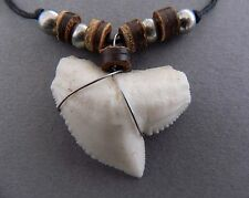 LARGE 2cm LONG 3cm WIDE RESIN TOOTH NECKLACE big replica shark tooth STYLE A4