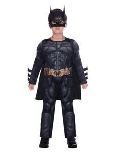 Childs Dark Knight Fancy Dress Batman Costume DC Comic Book Week Superhero Kids