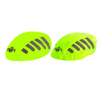 BTR High Visibilty Reflective Waterproof Bicycle Bike Helmet Cover. Yellow x 2