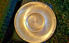 Aluminum Hand Wrought Serving Platter Large Vintage Ruffled Edge Beauty..