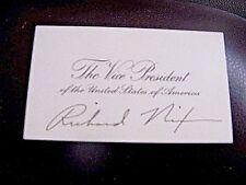 Very Rare & Pristine, President Richard M. Nixon, Vice President's Card Signed