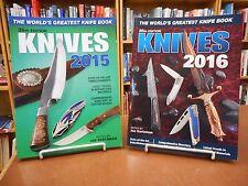2 Bk Lot World's Greatest Knife Book Knives 2015 & 2016 Joe Kertzman Knifemaker