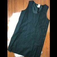 Harve Benard Womens 16 Charcoal Black Sleeveless Sheath Dress 100% Wool