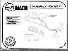 Pot d'Echappement Mach Pour Yamaha XT 550 5Y3 28E 1982-1983 Mono amortisseur
