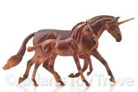 Breyer Mira and Antares Unicorn Andalusian Mare Foal - Traditional Horse 712307