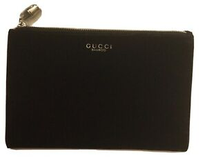 GUCCI BAMBOO Black Velvet Pouch Toiletry Makeup Case Cosmetic Bag NEW