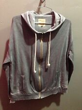 $89 NWT Chaser Brand Solid Grey Pocket Hoodie Size XS