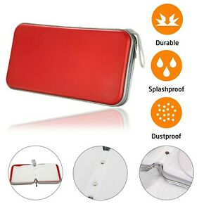 CD DVD Carry Case Disc Storage Holder CD Sleeve Wallet Ideal for In Car RED