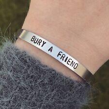 Billie Eilish Bracelet Bury A Friend Silver Cuff Bracelet Handmade Jewellery