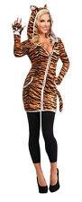 Womens Urban Tiger Hoodie Costume Animal Safari Sexy Adult Size Standard