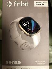 Brand New FitBit Sense Soft Gold Lunar White Smartwatch
