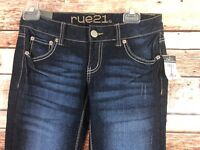 rue21 Womens Size 0 Regular Low Rise Skinny Jeans Dark Wash