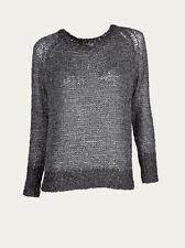 NEW IRO Madda Designer Black Lurex Jumper Size M