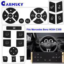 【Window & Door Lock & Steering Wheel】 For 2008-2014 Benz C300 Button Sticker Set