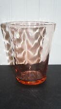 Vintage  Pink Fostoria LOOP OPTIC Vase      (A3)