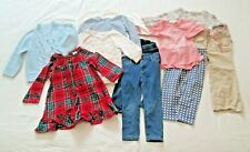 #2- 2T Girls Clothing -11 Pc Lot Fall Winter- Jean Pants Shirts Sweaters PJ's