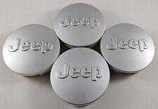 4x JEEP 63MM/2.5 Inch Wheel Center Cover Caps Silver Grand Cherokee Wrangler