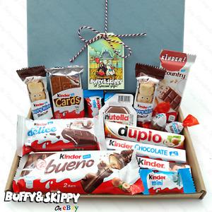 Kinder & Nutella Hamper Gift Box Chocolate Hamper Personalised Halloween Treat