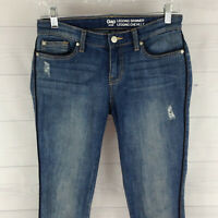 GAP LEGGING SKIMMER SKINNY Womens Size 0 Stretch Blue Distressed Soft Jeans EUC
