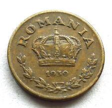 More details for romania 1 leu 1939, king carol ii, ni-brass, ef tiny trace lustre, toned, km#56