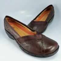 Clarks Unstructured Flats Womens Size 11M Brown Leather Loafers Moccasins Pumps