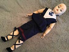 """Antique Simon & Halbig 1078 Reproduction Porcelain Doll Sailor 24"""" for repair"""